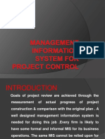 Management Information System for Project Control