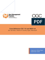 Crossreference Itil v3 and Mof 40 Alignment White Paper602