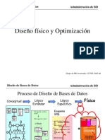 DISEÑO FISICO Y OPTIMIZACION EN ORACLE