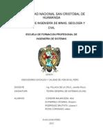 Indicadores sociales y calidad de vida en el perú (trabajo)