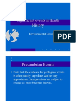 3 -Significant Events in Earth History
