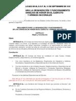 REGLAMENTO PARA LA ORGANIZACIÓN Y FUNCIONAMIENTO DE LOS CONS