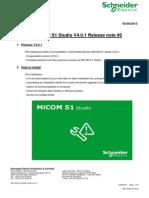 Release Note MiCOM S1 Studio V4.0.1