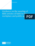 Guidance on the wearing of Sikh articles of faith in the workplace and public spaces UK