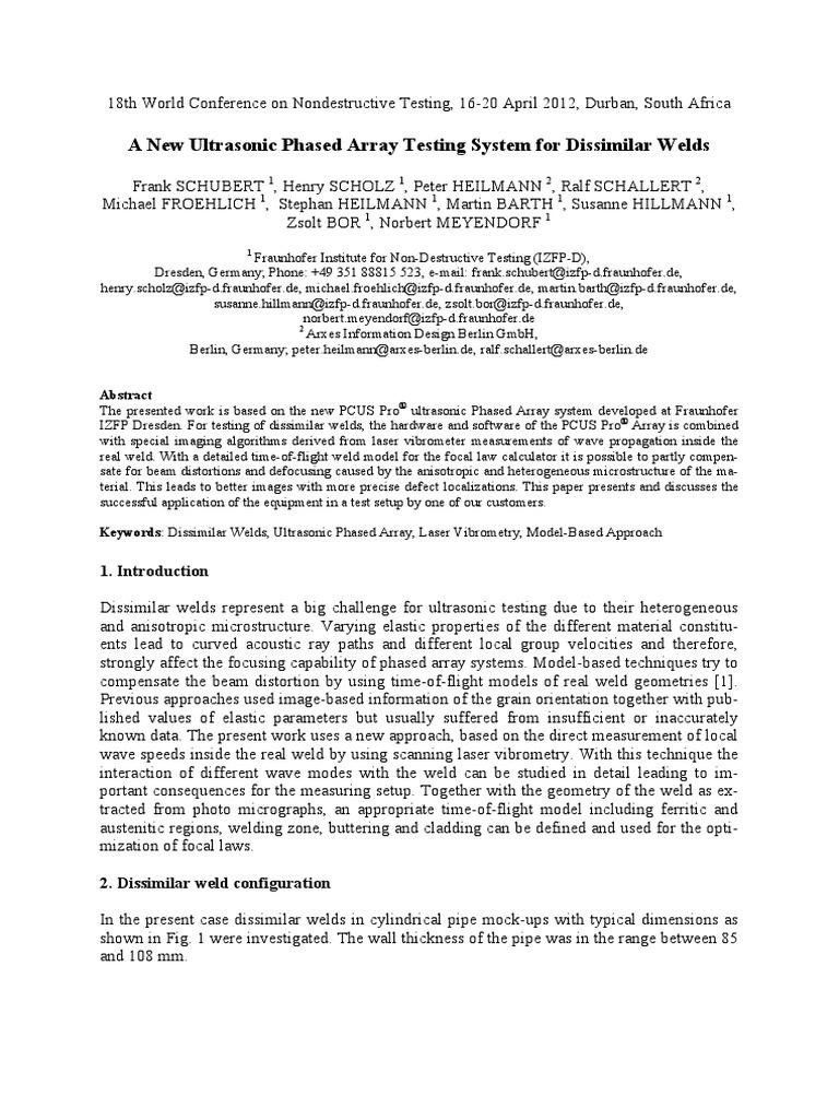 Ultrasonic testing pdf free download
