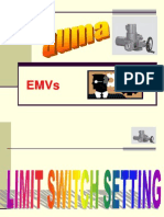 Motorized valve actuator limit setting procedure on AUMA MAKES.