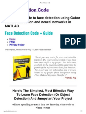 Face Detection Matlab Source Code