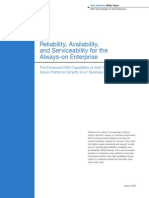 Reliability Availability and Serviceability for the Always on Enterprise Paper