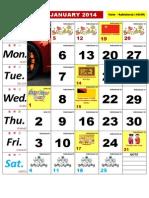 Kalendar Kuda 2014 - Malaysia