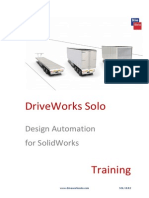 92530051 DriveWorks Solo Design Automation for SolidWorks Training