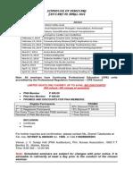 PNA Schedule of Seminars January - April 2014
