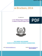 JAKBOPEE MD/MS/PG Diploma and MDS 2014 Information Brochure