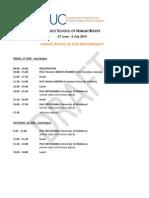 Program Opening - Venice School of Human Rights 2014