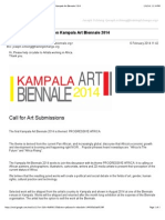 Hi Guys, check this out... Call for Art Submission Kampala Art Biennale 2014