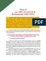 Tema 12 - Alfonso XIII y la Crisis de la Restauración