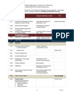 MGS4000 Managerial Decision Making UPDATED Fall 2009 Schedule
