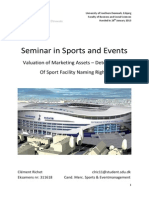 Determinants of Sport Facility Naming Rights