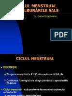 Curs 3 - Ciclul Menstrual Si Tulburarile Sale