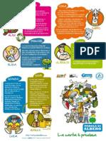 Parola di albero - Depliant informativo scuole con fumetto