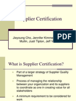 Supplier Certification Presentation