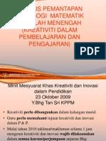 Kreativiti & Inovasi Terkini 2011( Pn. Fawziah )
