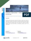 Analytics exploration – today and tomorrow
