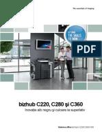 Brosura Bizhub C360 280 220