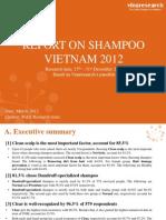 W&S Report Shampoo Market 2012