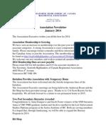 Assoc Newsletter Jan 2014