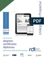 RDI Undergraduate Prospectus