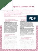 Lezingenreeks Antwerpen '14 -'18