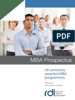 RDI MBA Prospectus