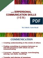 Interpersonal Communication Skills -ICS