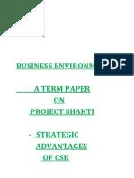 Project Shakti Term Paper