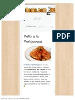 Recetas de Pollo a La Portuguesa _ Recetas de Pollo