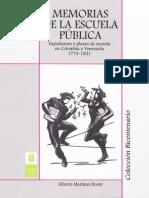 2011 Memorias de La Escuela Publica