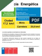Etiqueta Eficiencia Energetica Vf Rapid 1.6 Tdi Mt