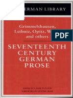 Seventeenth Century German Prose