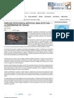 Emplean inteligencia artificial para detectar la enfermedad de Chagas - Investigación y Desarrollo