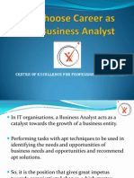 Why Choose Career as Business Analyst - Coepd