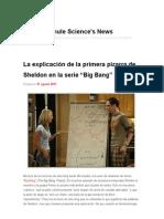 """La explicación de la primera pizarra de Sheldon en la serie """"Big Bang"""" _ Francis (th)E mule Science's News"""