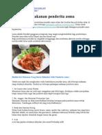 Pantangan Makanan Penderita Asma