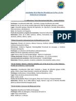 Cronograma de Actividades de la Marcha Mundial por la Paz y la No Violencia en Arequipa