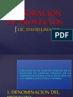 Elaboracion de Proyectos - Copia
