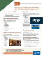 LEPTOSPIROSIS - Fact Sheet