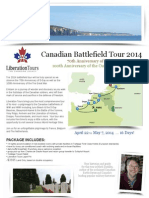 Canadian Battlefield Tour 2014