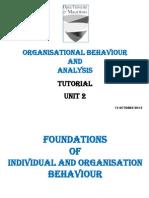 Organisation Behaviour Tutotial