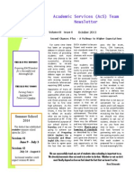 academic services newletter fall 2013