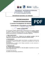 Reglamento Concurso Pre-congreso 2013