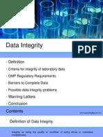 Presentation on Data Integrity